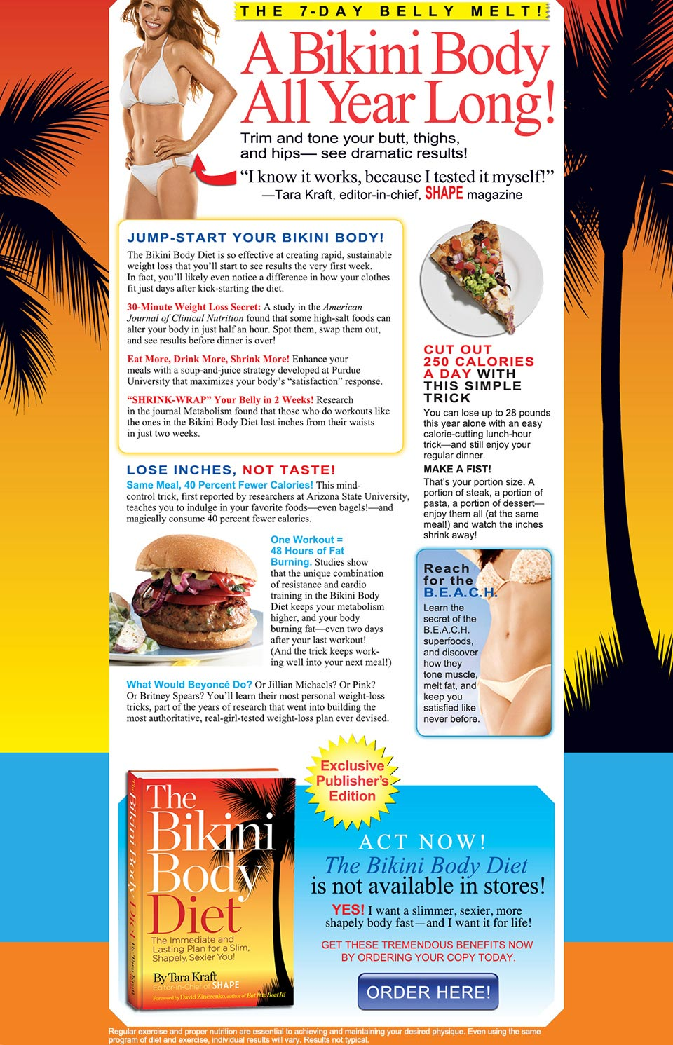 The Bikini Body Diet by Tara Kraft - Order Now!